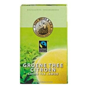 Thee Alex Meijer groen met citroen 4 x 20 x 2 gram