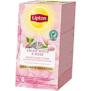 Thee Lipton exclusive selection Aziatisch wit en rozenblaadjes 30 stuks