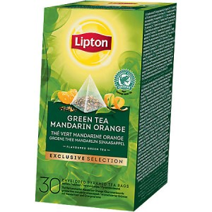 Thee Lipton exclusive selection groene thee mandarijn sinaasappel 30 stuks