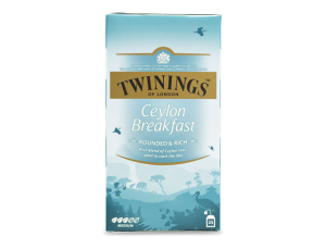 Thee Twinings ceylon breakfast 25zakjes