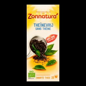 Thee Zonnatura zwart theïnevrij 20zakjes